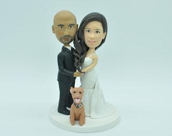 wedding cake topper,custom wedding cake topper,custom bobbleheads,bobbleheads cake toppers, personalized bobbleheads,Valentine gift