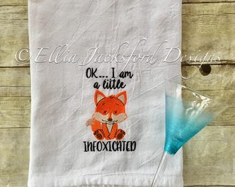Fox Flour Sack Towel