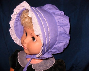 size 6-9 months - Purple Lavender Bonnet Sunhat