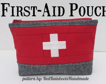 Travel First Aid Pouch - PDF PATTERN - for a cute little pouch