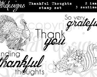 Thankful Thoughts Digital Stamp Set