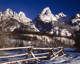 Bluebird Winter Day in the Tetons