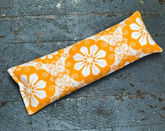 Handmade Fabric Hot Cold Therapy Compress Rice Bags Orange Flower