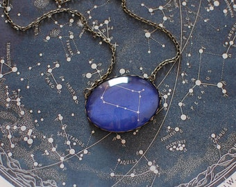 Gemini Zodiac Necklace. Gemini Constellation Necklace. Gemini Necklace. Zodiac Sign Necklace. Gemini Star Sign. Zodiac Jewelry. Astronomy.