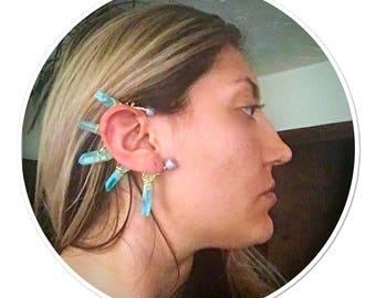 Ice Crystal Ear Cuff