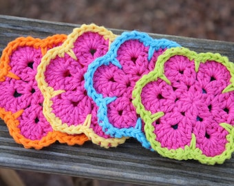 Crochet coasters, Coaster set, Housewarming gift, Mug Rugs, crochet doilies, Coffee gift,  hostess gift, gift mom gift, organic gift