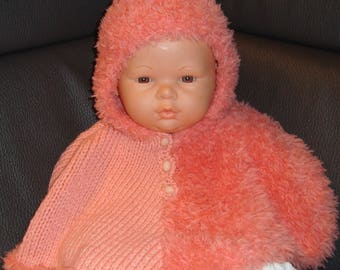 adorable poncho knitting for babies - Poncho with hood for baby