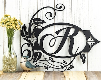 Monogram Metal Sign | Personalized Sign | Custom Sign | Monogram Sign | Family Monogram Sign | Family Name Sign | Metal Wall Art