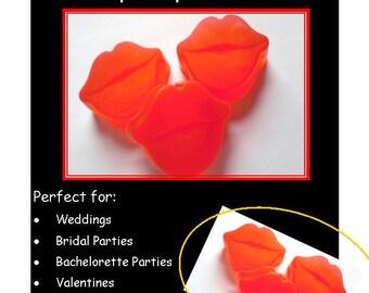 10 Lip Soap Favors: Wedding Favors, Bridal Shower, Birthday Favors, Lip Wedding Favors, Rustic Wedding, Large Lip Soaps
