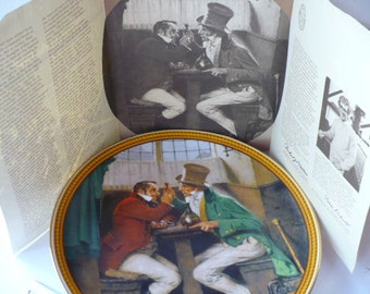 Mens Gift, Gift for Men, Man Cave, Wall Decor, Gift for Him, Norman Rockwell, Clinching the Deal, Wall Plate