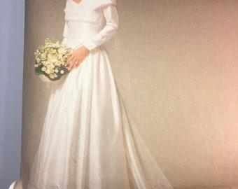Vogue Bridal Original Vintage Sewing Pattern 2768 Wedding Dress Size 12