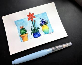 Three Little Flower Pots