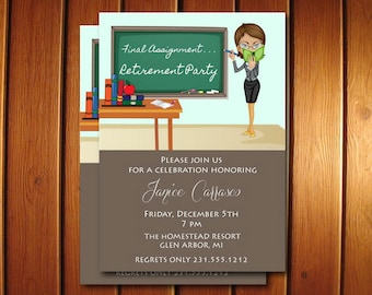 Teacher Retirement Invitation | Teacher Retirement Party Invitation | Printable Invite