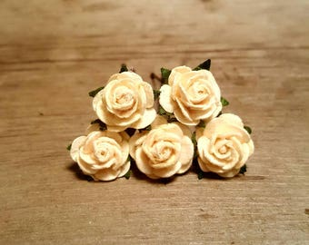 Ivory Rose Hairpin, Wedding Hair Piece, Gift for Her, Flower Hair Pins, Christmas Gift, Hair Accessory
