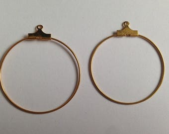 rings, gold hoops to decorate