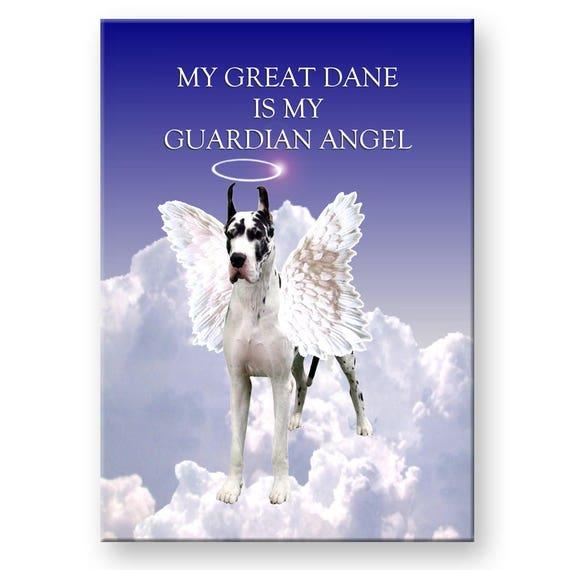 Great Dane Guardian Angel Fridge Magnet No 2