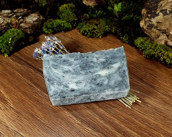 Activated Charcoal Acne Soap / Activated Charcoal Soap / Charcoal Acne Soap / Acne Detox Soap / Body and Hair Soap Bar with Essential Oils