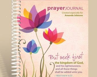 Spring Flowers (Pink) / Journal Notebook / Matthew 6:33