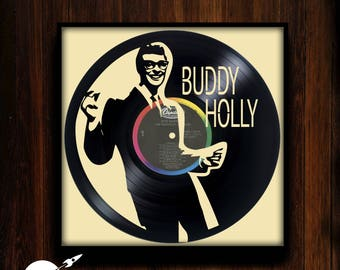Buddy Holly ~  Custom Engraved Vinyl Record - CUSTOMIZE YOUR ORDER