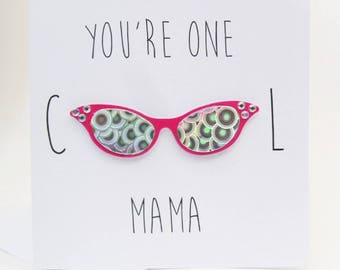Holographic Cool Mama Card