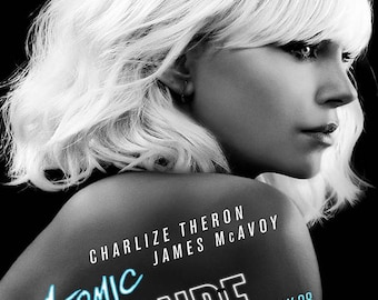 ATOMIC BLONDE - Film Poster - Giclee Reproduction Full Colour Print