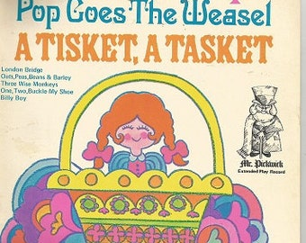 MR PICKWICK 45 RPM Extended Play Record - I'm A Little Teapot - Pop Goes The Weasel - A Tisket, A Tasket...