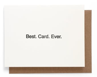 Best. Card. Ever. letterpress note card