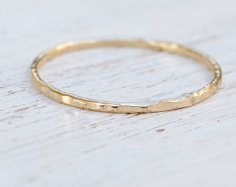 Gold filled ring,simple ring,gold ring,thin ring,dainty ring,hammered gold ring,14k gold filled,gift for her