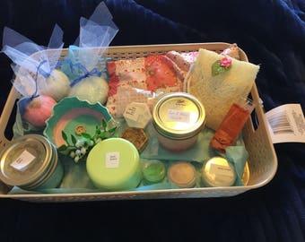 Skin care gift basket