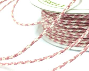 20 Metres Bakers Twine Mauve and Ivory