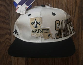Vintage 90s Deadstock New Orleans Saints Apex NFL Snapback Hat Baseball Cap