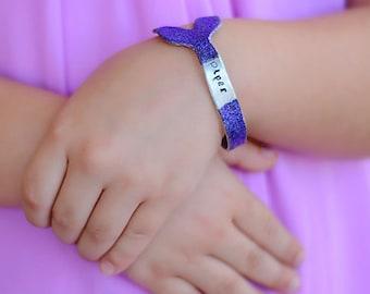 Mermaid Bracelet - Personalized Birthday Gift for Girl - Present for Little Girl - Mermaid Birthday Gift - Mermaid Bracelet - Little Girl