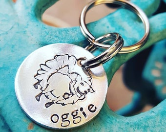 Oggie keychain, Fundraising Oggie keychain,  Oggie cancer treatment fundraising, Chemo Treatment Fundraising, Aluminum min pin keychain