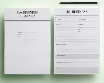 Small Business Planner Printable / Etsy Business Planner Pack - 31 A4 & A5 Organizer Pages including Expense Tracker. Instant Download PDF.