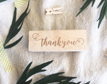 Thank You Stamp / Calligraphy Stamp / Custom Wedding Stamp / Wedding Stamp / Favors Stamp / Wedding Favors / Rubber Stamp / Thank you