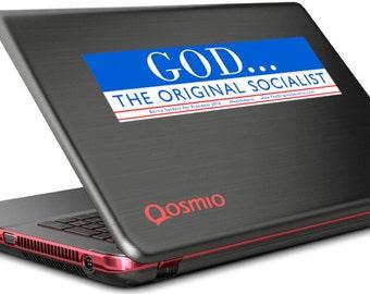God... The Original Socialist Bumper Sticker   #feelthebern  Bernie Decals  Bernie Sanders Decals   Socialist  FREE SHIPPING!!!