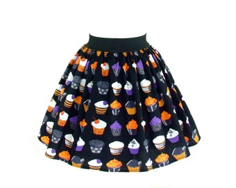 ON SALE!!!Gothic Cupcakes Vintage Inspired Skirt