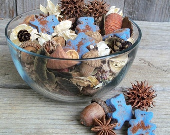 Baby Bear Blue Potpourri, Special Blend, Rustic, Nursery Fragrance, Lavender, Chamomile, Baby Shower Decoration, Refresher Oil Included