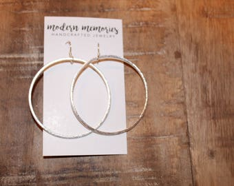 Silver Hoop Earrings | 2 inch hoop earrings, silver hoops, dainty hoops, hoop earrings, silver hoop earrings