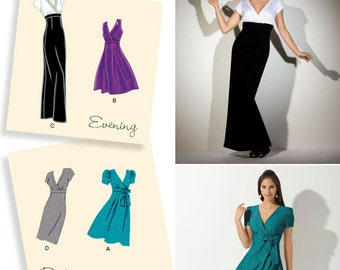 Simplicity 2549 Designer's Inspiration! Misses Dress in Two Lengths with Skirt Variations Size R5 (14-22) New - Uncut