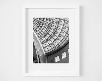 Union Station Los Angeles photo print - California black and white photography - Travel fine art wall decor - United States metro cities
