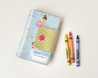 Kids Travel Crayon Wallet - Mermaids