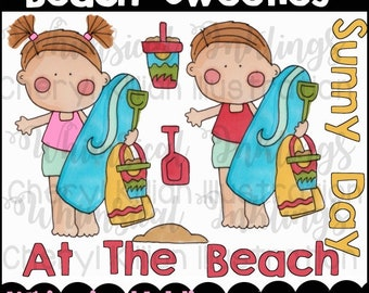 Beach Sweeties Clipart Collection- Immediate Download