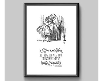 Print - Alice In Wonderland - Not Really Impossible