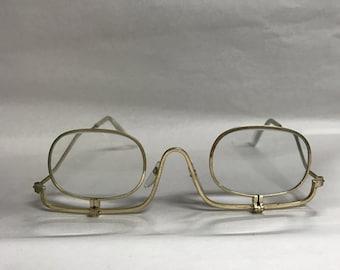 Vintage eyeglasses gold frame