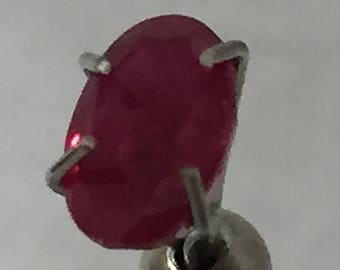6x4mm,Burmese Red Ruby-Oval