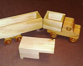 Toy Wooden Truck - 3 in 1