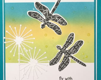 Dragonfly Inspiration Greeting Card (A6)