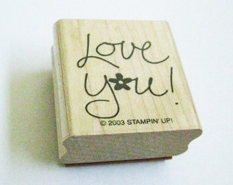 Love You Quotation Papercraft Stamp Calligraphy Quote Carved Rubber Stamp Destash Craft Card Making Stamping Supply Craft Stamp Love You