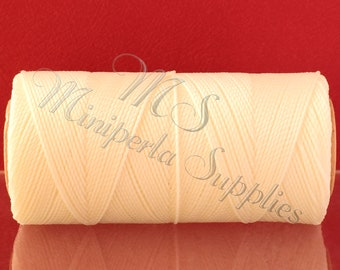 15 Meters Micro Macrame Cord, Linhasita Natural, Jewelry Making Thread, Sewing Thread, Waxed Cord